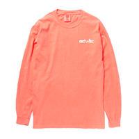 actwiseロゴ 長袖Tシャツ(neon ORANGE)