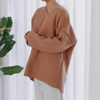 -3colors- felt wool over fit top