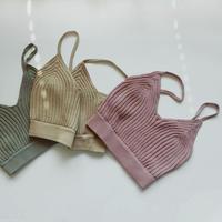 !再入荷待ち! -3 colors- dull color knit bikini