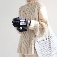 mock neck cable knit