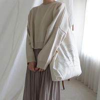 -3colors- cropped design sensitive knit