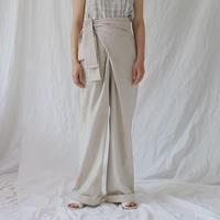 wrap linen pants