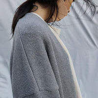 -2colors- over fit long cardigan