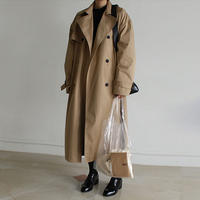 back gather trenck coat
