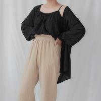 -2 colors- crinkle silk top set
