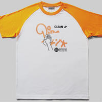 """CLEAN UP"" Raglan T-Shirts"