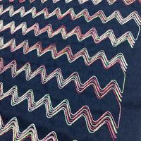 02-6827 コットンデニム刺繍