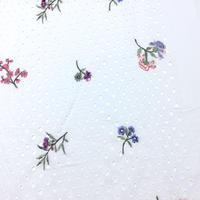 07-7501 コットンボイル 穴開きエンブロイダリー 刺繍