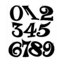 ナンバー(Lサイズ)ブラック