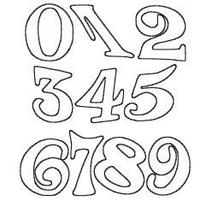ナンバー(Sサイズ)2桁/ホワイト