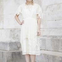 1900's Cotton Lace Short Dress