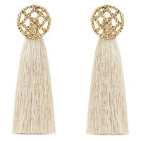CUTSTEEL quilt tassel 2way pierce/earring(gold)