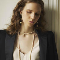 CAMELEON pearl long necklace (gold)