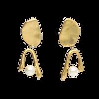 GOUTTE double pearl earring
