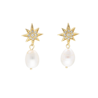 STAR baroque pearl earring(small pearl)