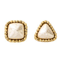 CUTSTEEL baroque pearl pierce/earring (gold)
