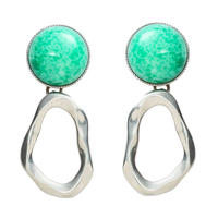 COSMO stone pierce/earring (silver)