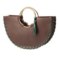 CORMA metal handle bag (brown x gold)