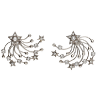 STAR FILIGREE solid pierce (silver)