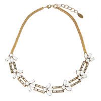TROPIC square necklace(white)
