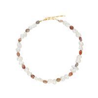 LA TERRE pearl stone mix necklace