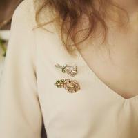 VINTAGE FLOWER  tulip brooch
