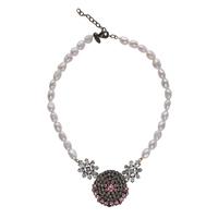 【Unique Line】Vintage pearl short necklace