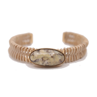 STONE rattan bangle(marble×gold)