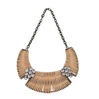 Rattan flower necklace