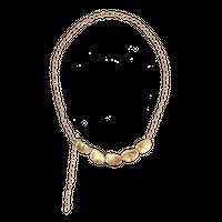 GOUTTE metal short necklace (gold)