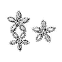 CUTSTEEL flower asymmemtry pierce/earring (silver)