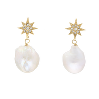 STAR baroque pearl pierce (big pearl)