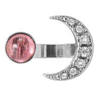 MOON&STAR cabochon ring  (silver)