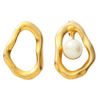 COSMO 2way pearl pierce (gold)