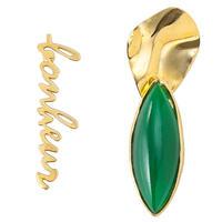 Bonheur asymmetry Pierce/earring (green)