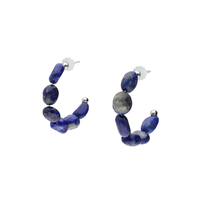 LA TERRE stone hoop pierce(BLUE)