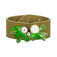PLUME leather bracelet(green)