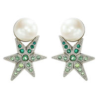 STAR pearl color stone pierce / earring