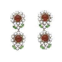 VINTAGE FLOWER petit flower earring(white)