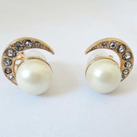 MOON pearl earring(gold)