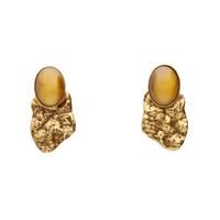 POMPEII metal cabochon earring