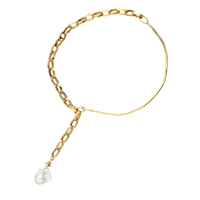 POMPEII baroque pearl choker(GOLD)