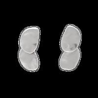 GOUTTE double metal earring (silver)