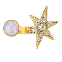 MOON&STAR cabochon ring (gold)