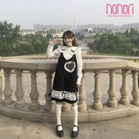 可愛いハート蝶結びストラップスカート洋服