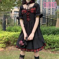 定番私服暗黒魔法の洋服ワンピース