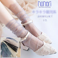 キラキラ銀河系透明薄网女靴下