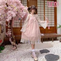 中華姫様つりスカートワンピースセット2色