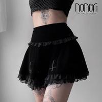 ブラック十字刺繍スカート212009