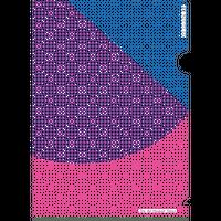 クリアファイル A5サイズ(赤×青)